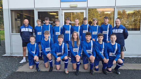 The players and coaches of Bridgnorth Town Juniors Under-14s