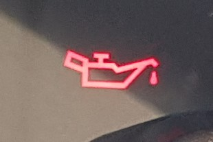 Warning light that looks like an oil can.